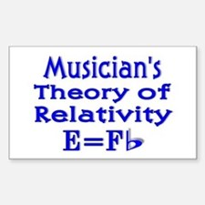 Music Theory Teacher 2 Rectangle Decal