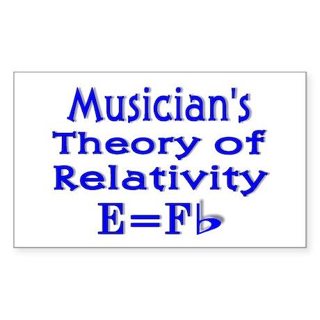 Music Theory Teacher 2 Rectangle Sticker