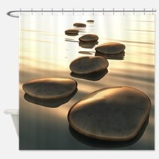 Step Stones Shower Curtain