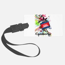 Flower Cambodia Luggage Tag