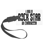 Rock Star In Cameroon Large Luggage Tag