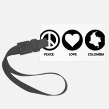 Peace Love Colombia Luggage Tag