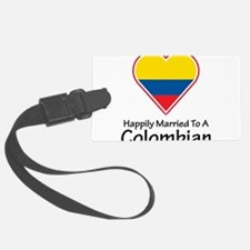 Happily Married Colombian Luggage Tag