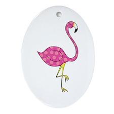 flamingo Ornament (Oval)