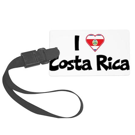 I Love Costa Rica Large Luggage Tag