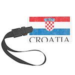 Vintage Croatia Large Luggage Tag