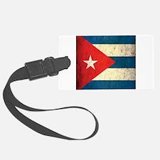 Grunge Cuba Flag Luggage Tag