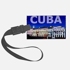 Vintage Cuba Art Luggage Tag