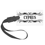 Tribal Cyprus Large Luggage Tag