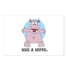 Hug a Hippo Postcards (Package of 8)