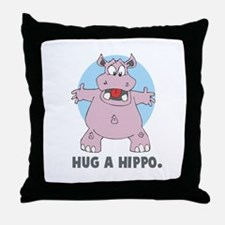 Hug a Hippo Throw Pillow