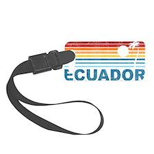 Retro Ecuador Palm Tree Luggage Tag