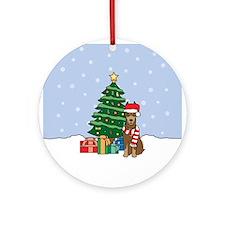 Red Doberman Pinscher Christmas Ornament