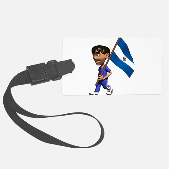 3D El Salvador Luggage Tag