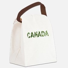 Canada, Vintage Camo, Canvas Lunch Bag