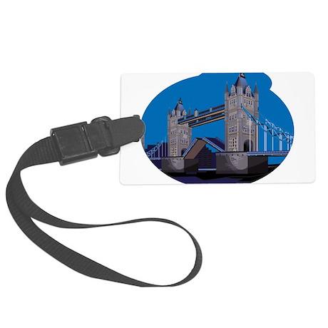 England Tower Bridge Large Luggage Tag