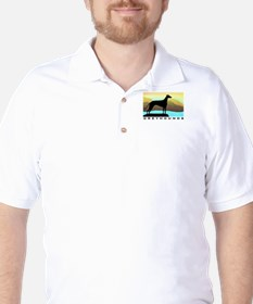 greyhound by the sea T-Shirt