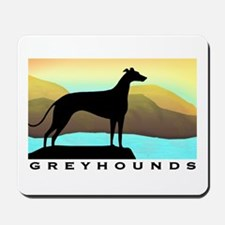 greyhound by the sea Mousepad