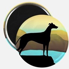 greyhound by the sea Magnet
