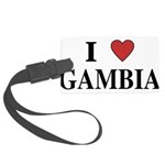 I Love Gambia Large Luggage Tag