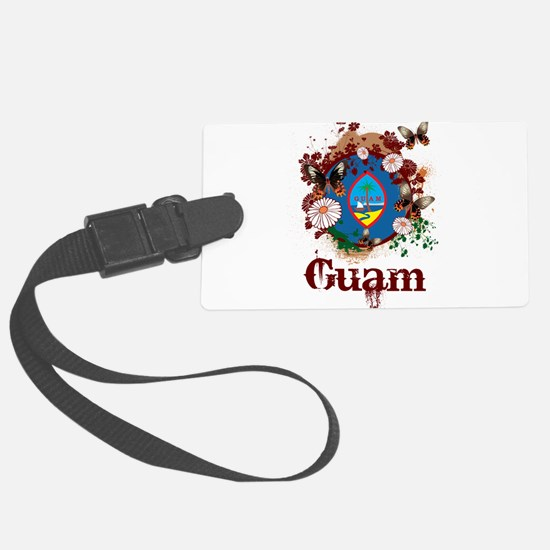 Butterfly Guam Luggage Tag
