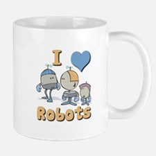 I Heart (love) Robots Mug