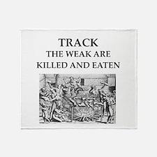 track Throw Blanket