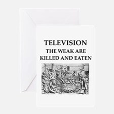 television Greeting Card
