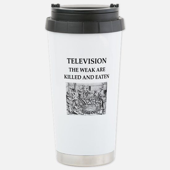television Stainless Steel Travel Mug