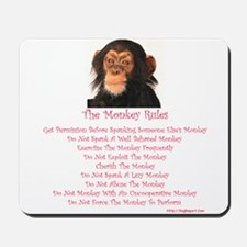 The Monkey Rules with a Monke Mousepad