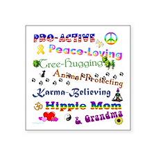 """HippieGrandma Square Sticker 3"""" x 3"""""""