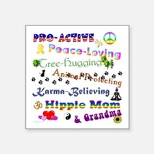 "HippieGrandma Square Sticker 3"" x 3"""