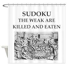 sudoku Shower Curtain