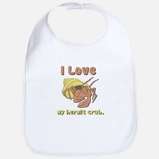 I Heart (love) my Hermit Crab Bib