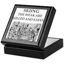 skiier Keepsake Box