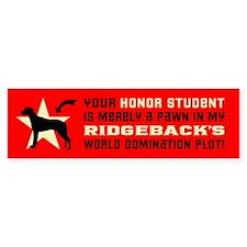 RIDGEBACK World Domintion Bumper Bumper Sticker