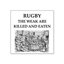 """rugby Square Sticker 3"""" x 3"""""""