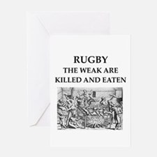 rugby Greeting Card