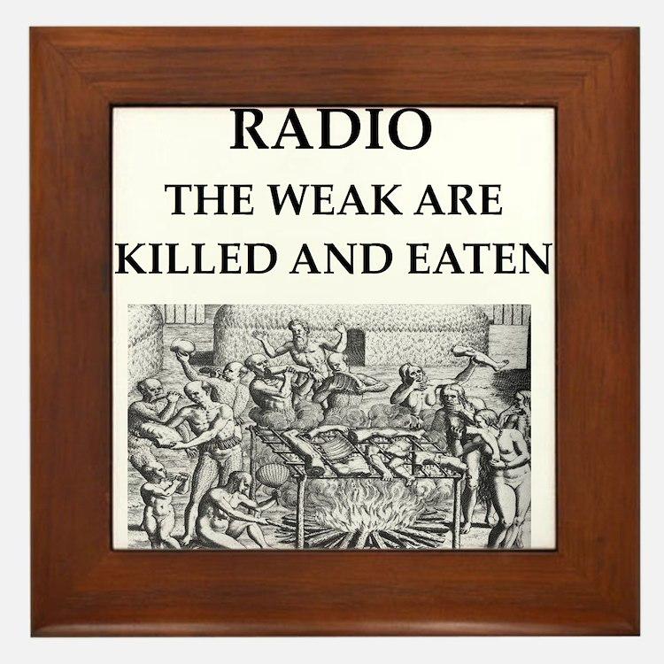 radio Framed Tile