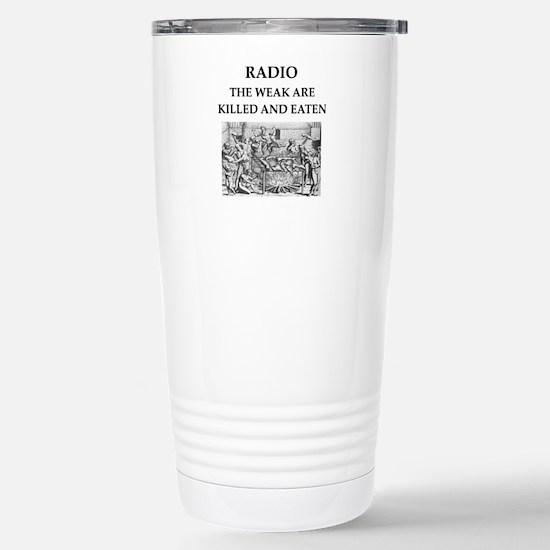 radio Stainless Steel Travel Mug