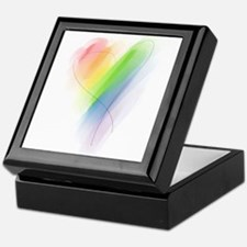 Rainbow Heart Keepsake Box