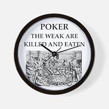 poker Wall Clock
