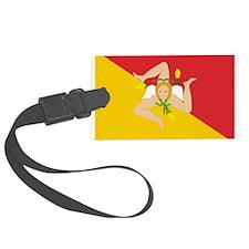 Sicily Flag Luggage Tag