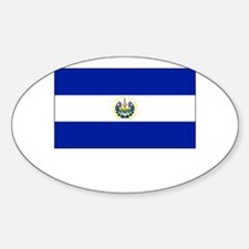 El Salvador Flag Picture Oval Decal