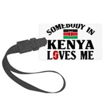 Somebody In Kenya Large Luggage Tag