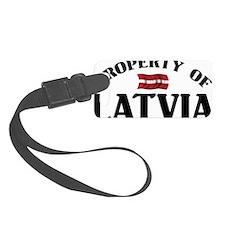 Property Of Latvia Luggage Tag