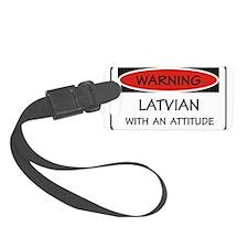 Attitude Latvian Luggage Tag