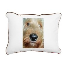 Big black squishy nose Rectangular Canvas Pillow