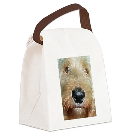 Big black squishy nose Canvas Lunch Bag