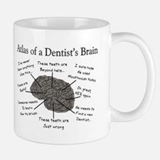 atlas of a dentists brain Mugs
